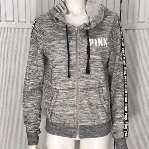 Victoria's Secret PINK Gray Hoodie Size S Gray Zip
